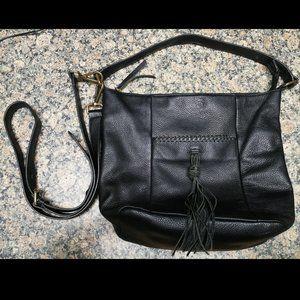 Black Leather Crossbody Purse